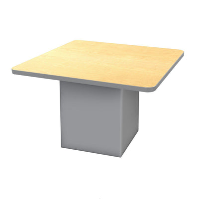 "Sonik™ Soft Seating 48"" Square Table-Soft Seating-29""-Fusion Maple/Gray-Frost"