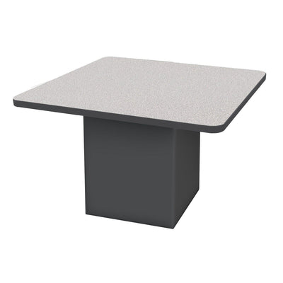 "Sonik™ Soft Seating 48"" Square Table-Soft Seating-29""-Gray Nebula/Black-Ebony"