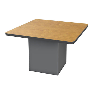 "Sonik™ Soft Seating 48"" Square Table-Soft Seating-29""-Solar Oak/Black-Charcoal"