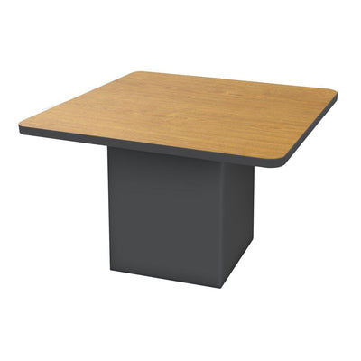 "Sonik™ Soft Seating 48"" Square Table-Soft Seating-29""-Solar Oak/Black-Ebony"