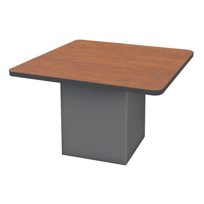 "Sonik™ Soft Seating 48"" Square Table-Soft Seating-29""-Wild Cherry/Black-Charcoal"