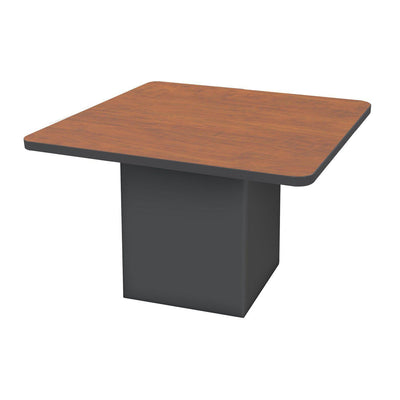 "Sonik™ Soft Seating 48"" Square Table-Soft Seating-29""-Wild Cherry/Black-Ebony"