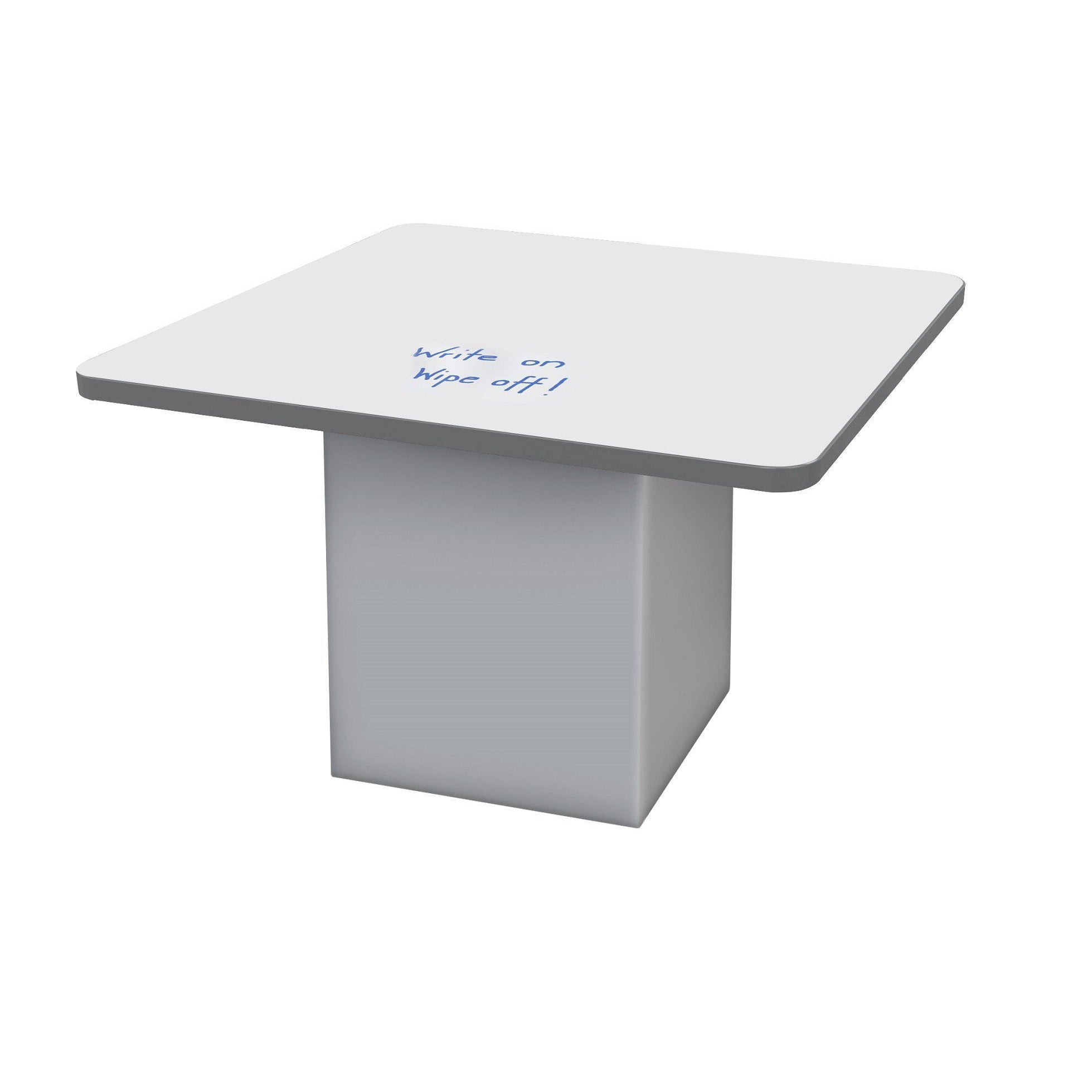 "Sonik™ Soft Seating 48"" Square Table with Markerboard Top and Power/Data Supply-Soft Seating-29""-Markerboard/Gray-Frost"