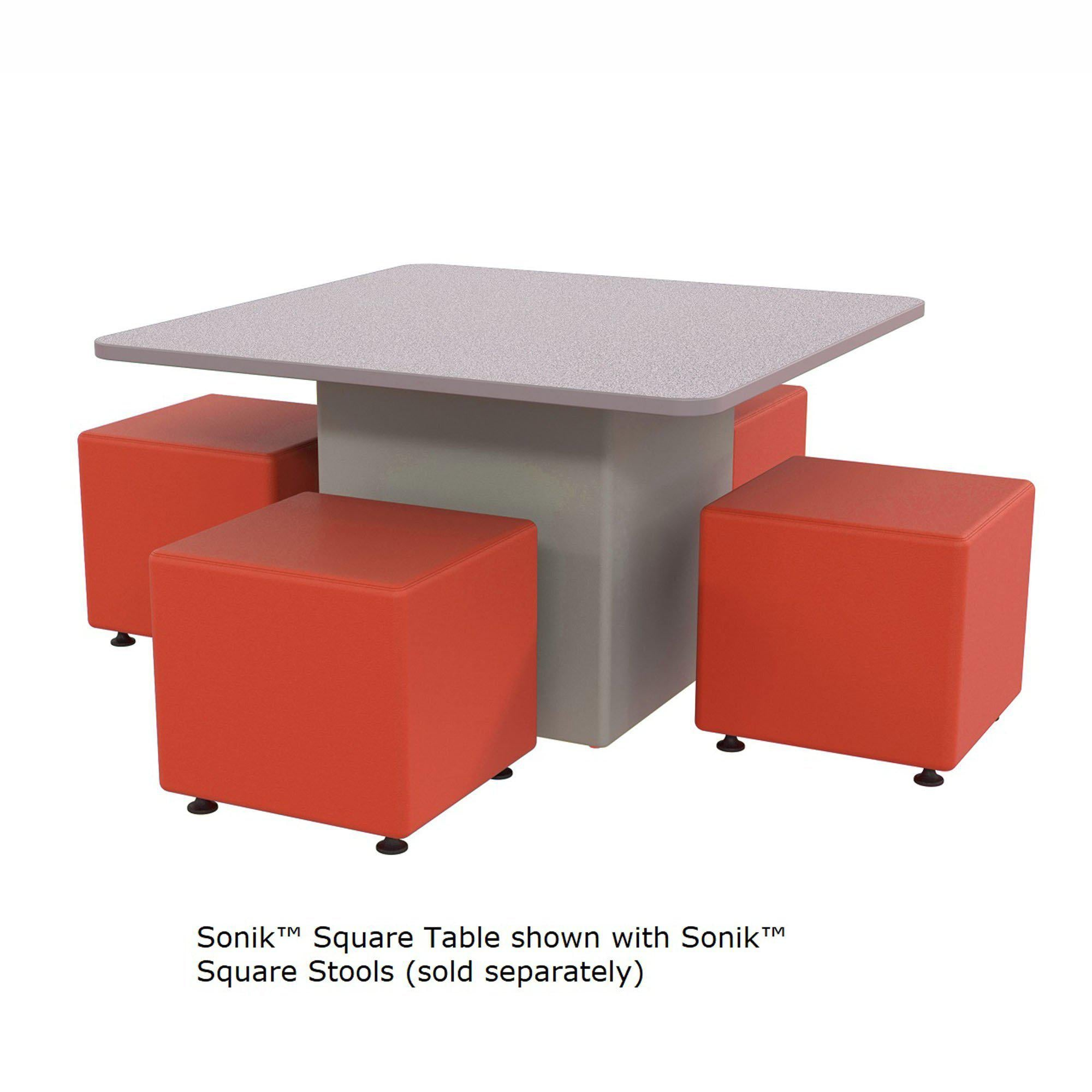 "Sonik™ Soft Seating 48"" Square Table with Power/Data Supply-Soft Seating-"