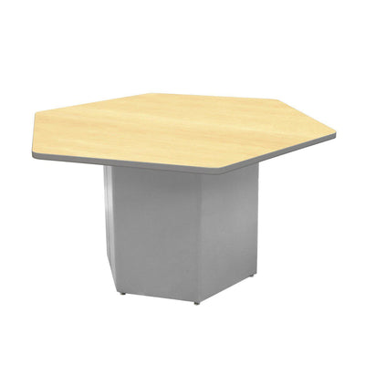 "Sonik™ Soft Seating Hexagon Table-Soft Seating-29""-Fusion Maple/Gray-Frost"
