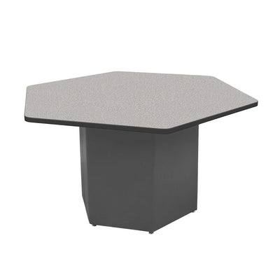 "Sonik™ Soft Seating Hexagon Table-Soft Seating-29""-Gray Nebula/Black-Charcoal"