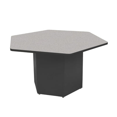 "Sonik™ Soft Seating Hexagon Table-Soft Seating-29""-Gray Nebula/Black-Ebony"