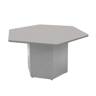 "Sonik™ Soft Seating Hexagon Table-Soft Seating-29""-Gray Nebula/Gray-Frost"