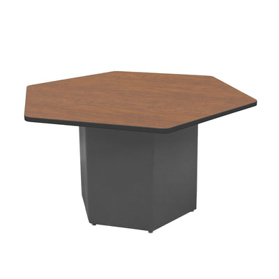 "Sonik™ Soft Seating Hexagon Table-Soft Seating-29""-Wild Cherry/Black-Charcoal"
