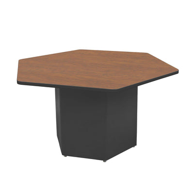 "Sonik™ Soft Seating Hexagon Table-Soft Seating-29""-Wild Cherry/Black-Ebony"