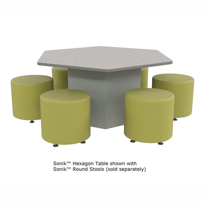 Sonik™ Soft Seating Hexagon Table with Markerboard Top-Soft Seating-