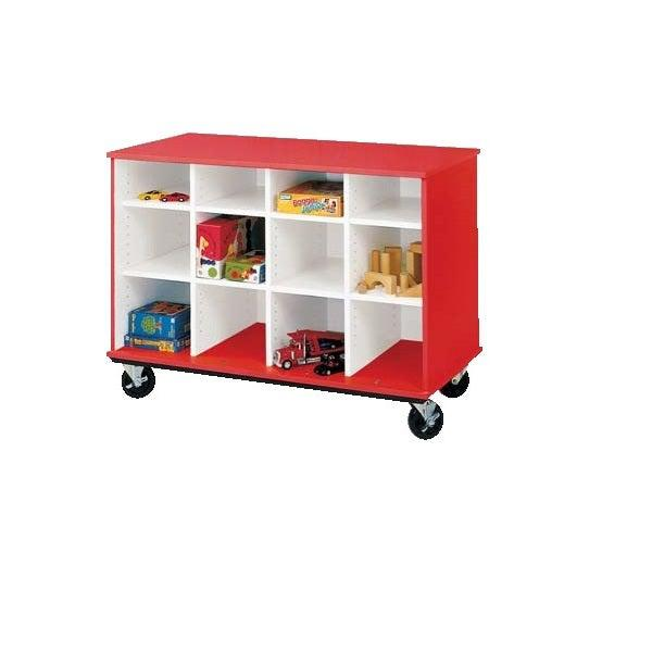 Open Cubbie Mobile Storage, 12 Compartments