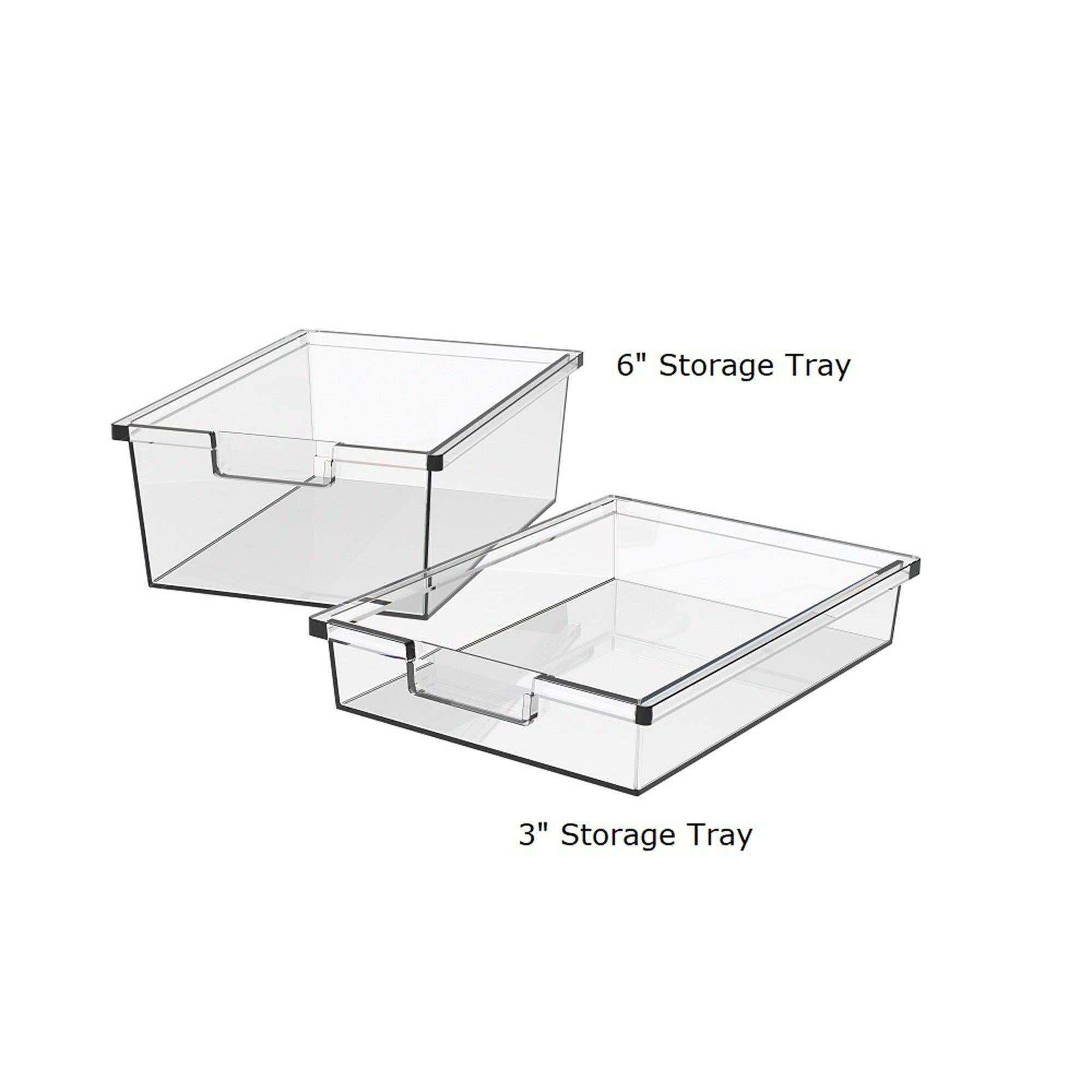 Storage Trays for Makerspace Mobile Storage Carts-Storage Cabinets & Shelving-