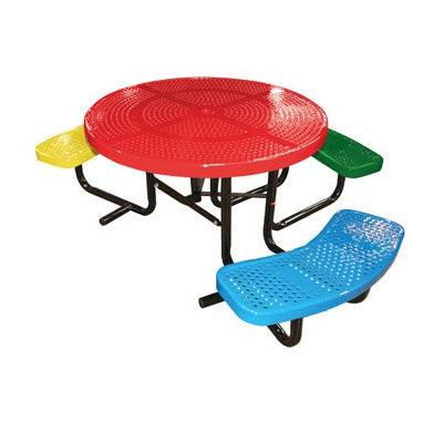 46˝ Round Children's Perforated ADA Portable Table, 3 seats