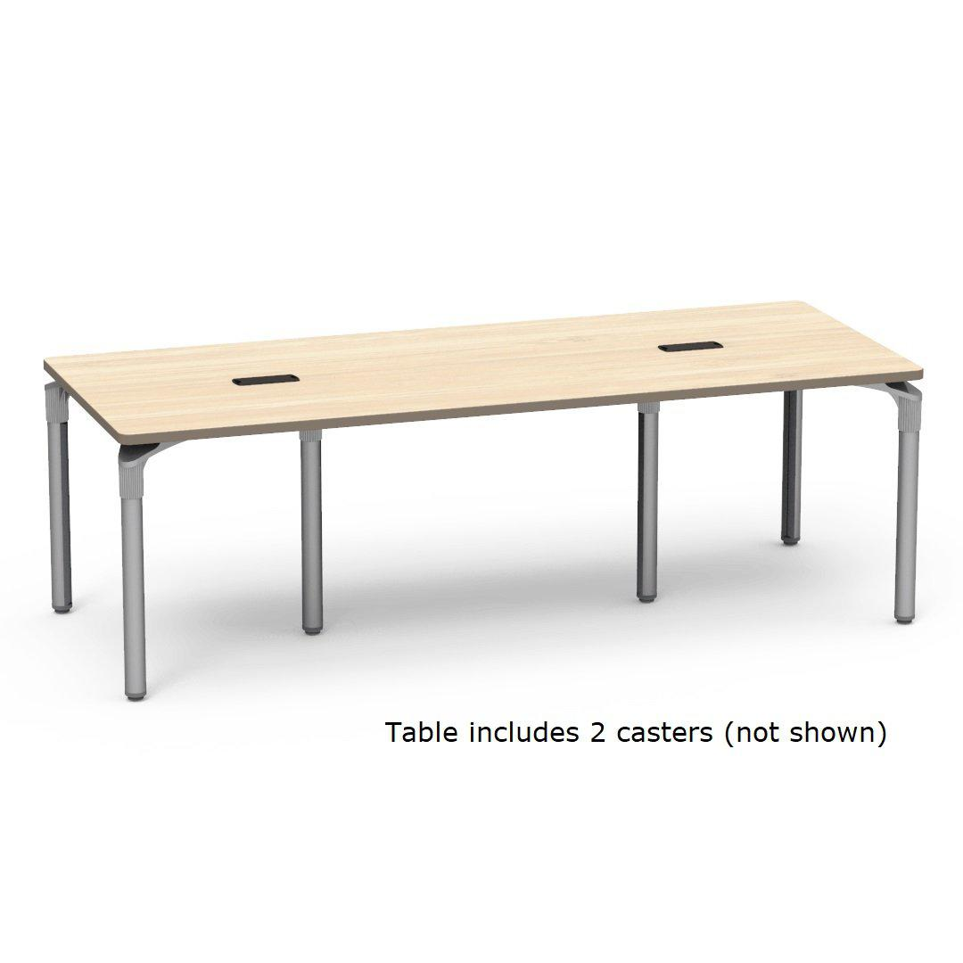 "Nextgen P-Series Library & Technology Table, 36""W x 90""L, 29"" Fixed Height, 2 Grommets, 2 Casters"