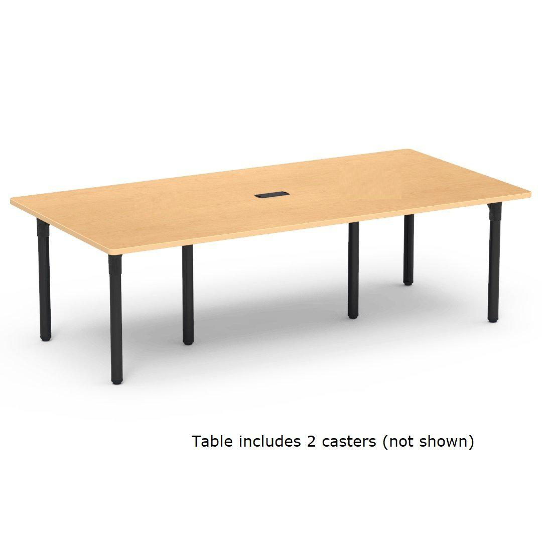 "Nextgen P-Series Library & Technology Table, 36""W x 90""L, 29"" Fixed Height, 1 Grommet, 2 Casters"