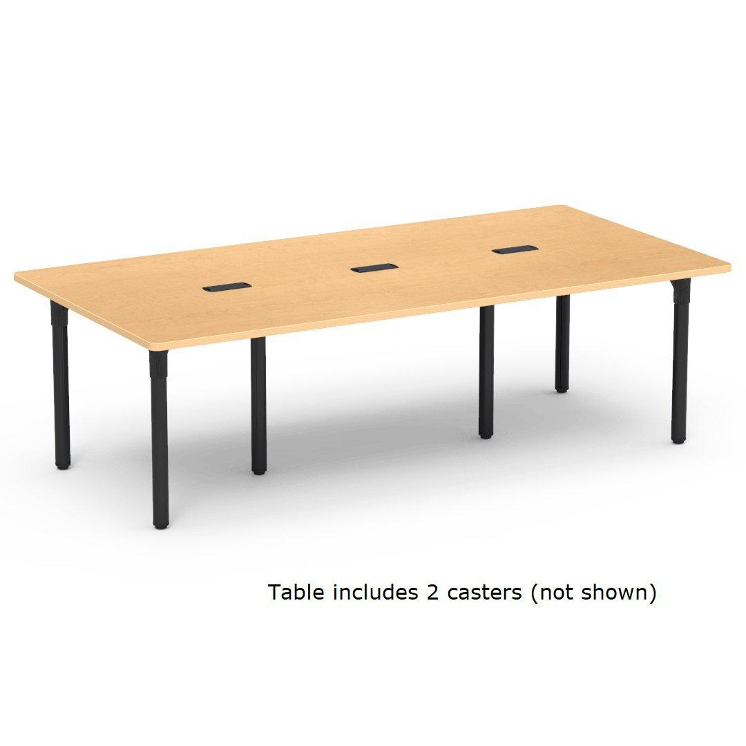 "Nextgen P-Series Library & Technology Table, 36""W x 90""L, 29"" Fixed Height, 3 Grommets, 2 Casters"