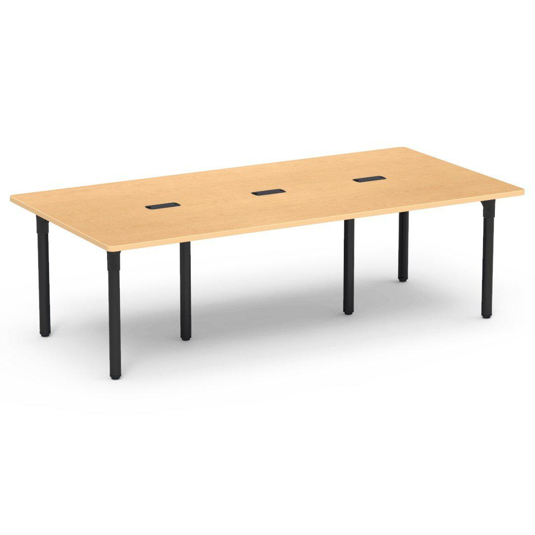 "Nextgen P-Series Library & Technology Table, 48""W x 96""L, 29"" Fixed Height, 3 Grommets"