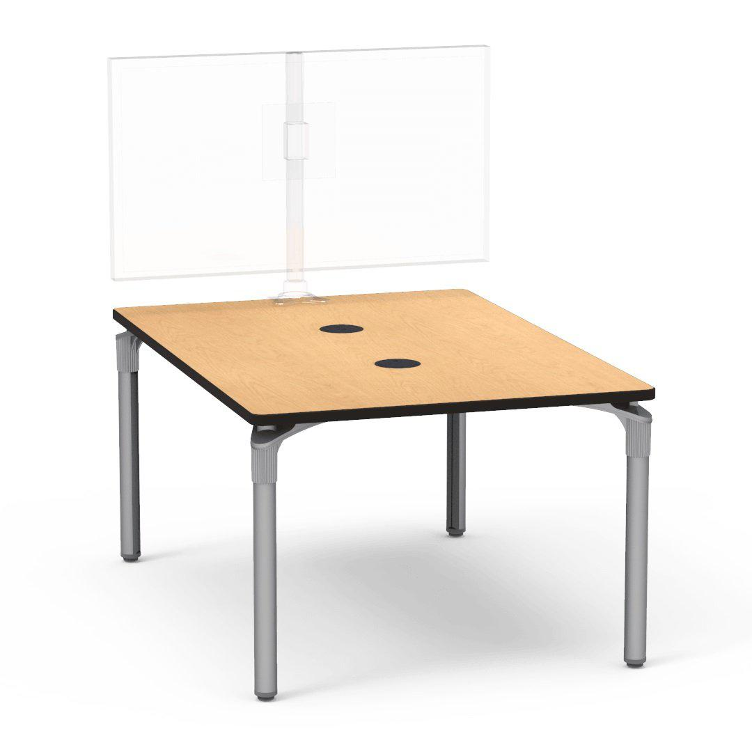 "Nextgen P-Series Collaborative Media Table, 42""W x 60""L, Rectangle, 29"" Fixed Height"