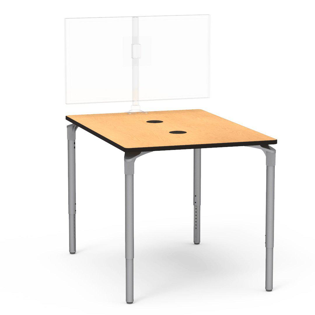 "Nextgen P-Series Collaborative Media Table, 42""W x 60""L, Rectangle, 33""-41"" Adjustable Stand-up Height"