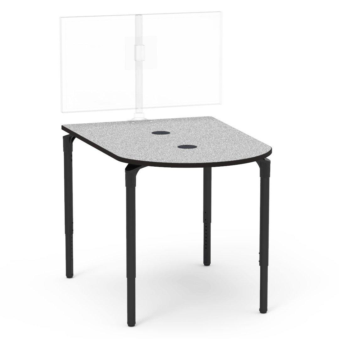 "Nextgen P-Series Collaborative Media Table, 42""W x 60""L, Peninsula, 33""-41"" Adjustable Stand-up Height"
