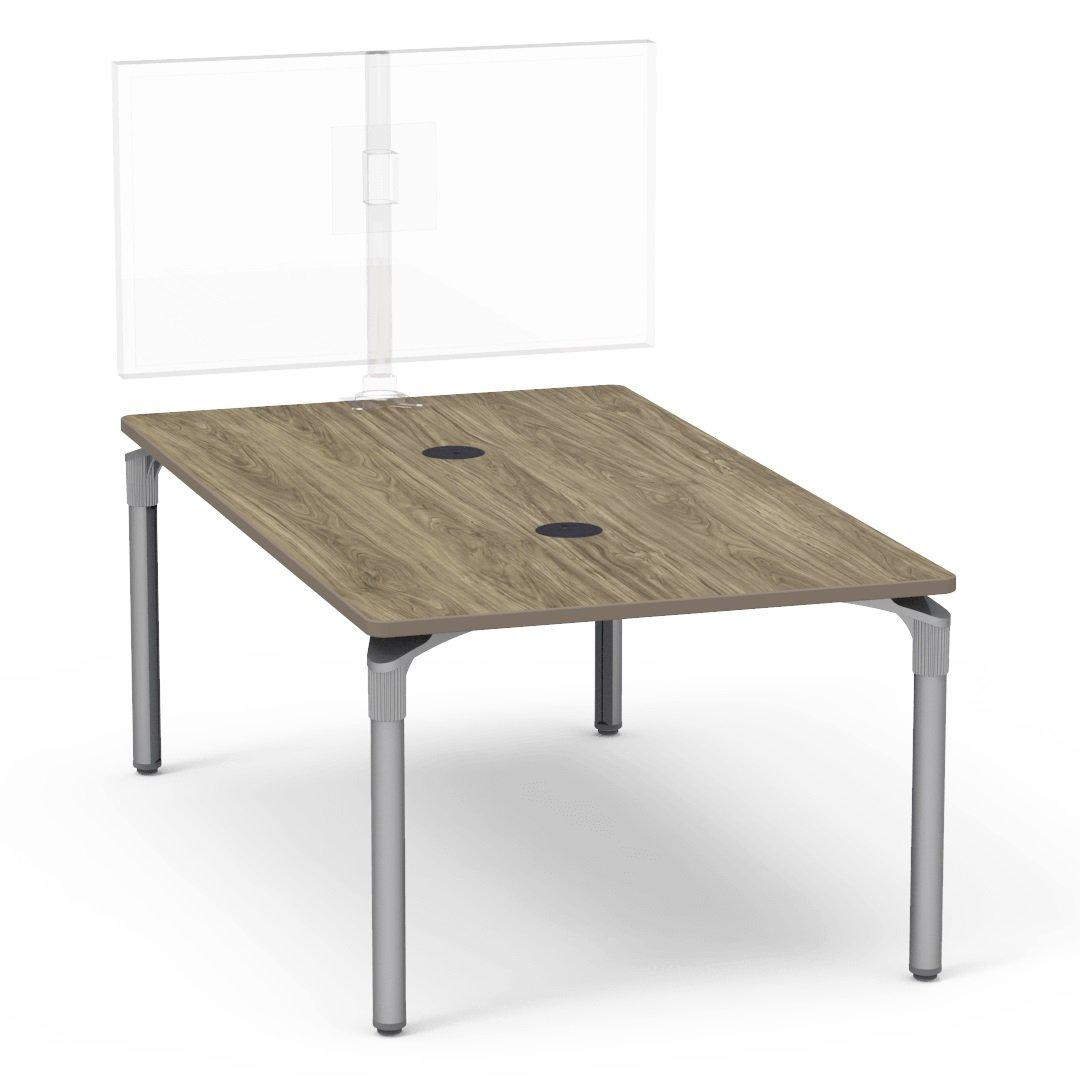"Nextgen P-Series Collaborative Media Table, 42""W x 72""L, Rectangle, 29"" Fixed Height"