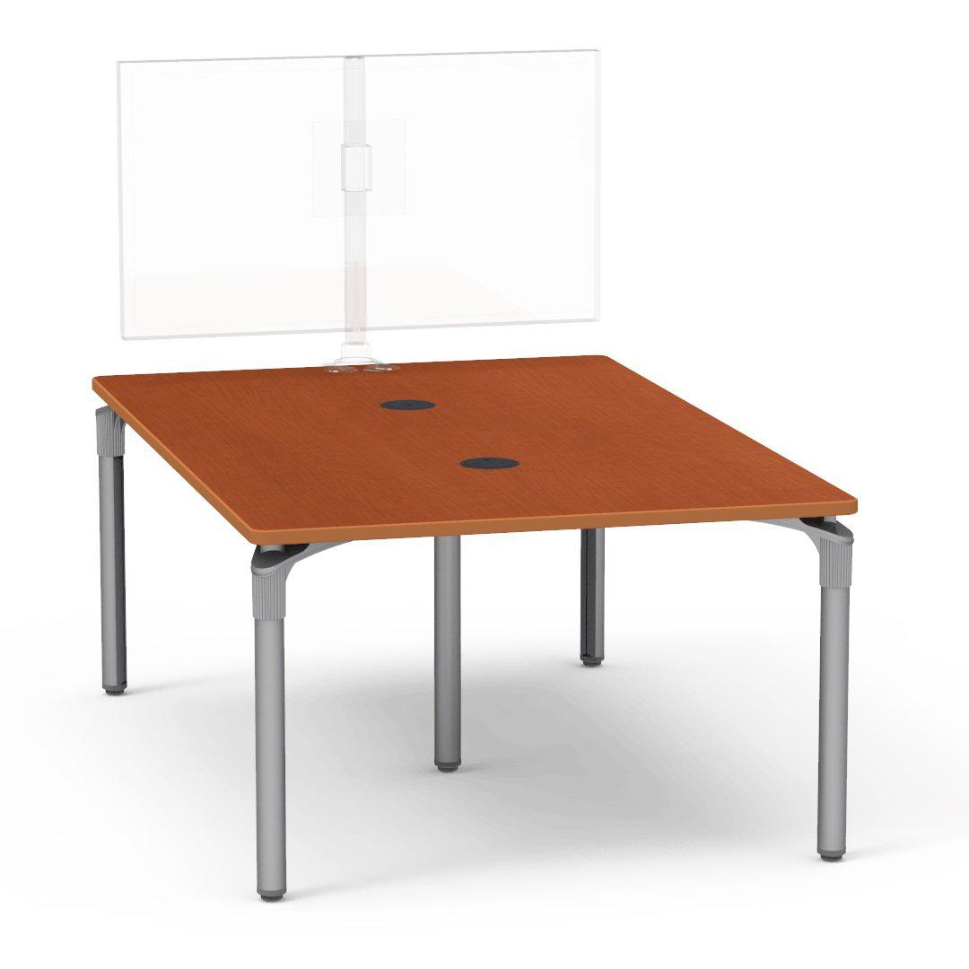 "Nextgen P-Series Collaborative Media Table, 48""W x 72""L, Rectangle, 29"" Fixed Height"