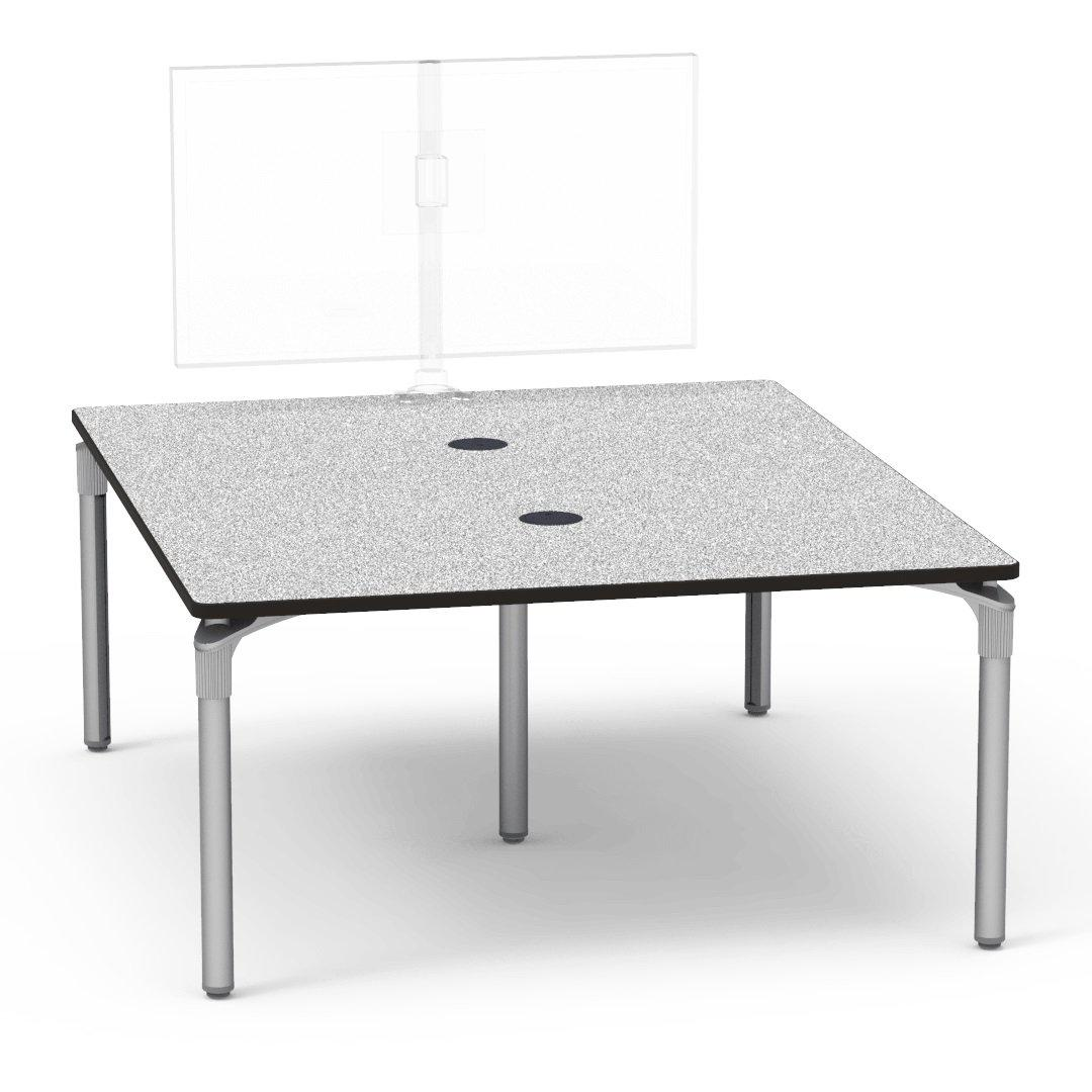"Nextgen P-Series Collaborative Media Table, 60""W x 72""L, Rectangle, 29"" Fixed Height"