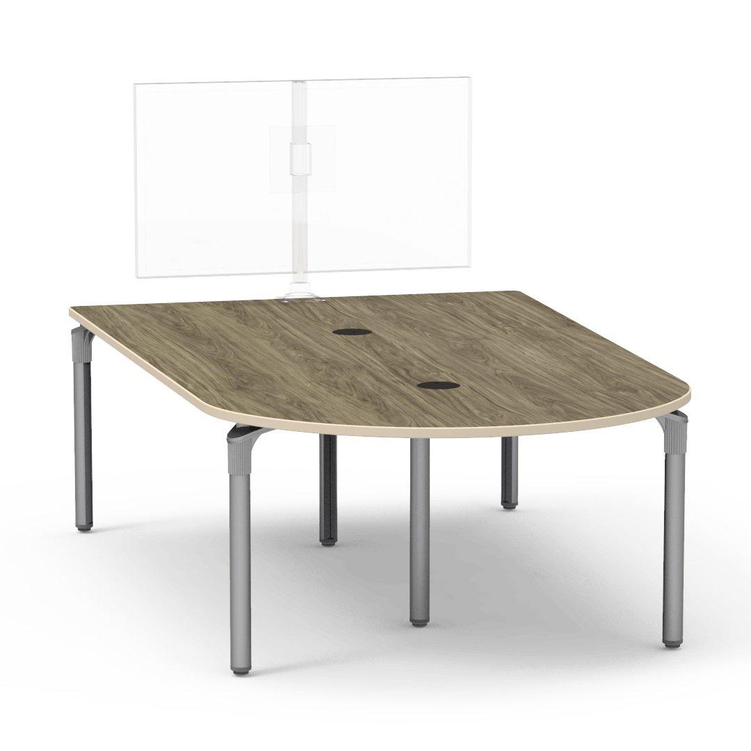 "Nextgen P-Series Collaborative Media Table, 60""W x 96""L, Rectangle, 29"" Fixed Height"