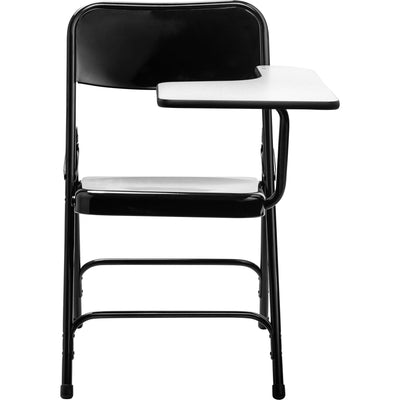Tablet Arm Folding Chair, Black, Carton of 2-Chairs-Left-