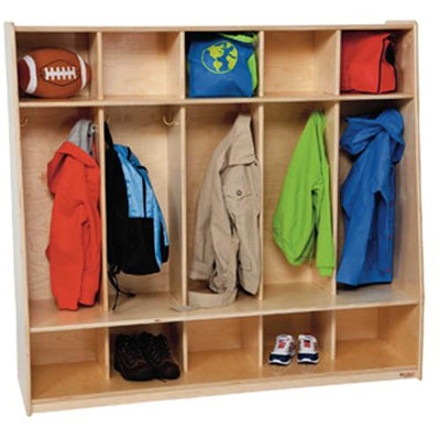 Tip-Me-Not 5 Section Seat Locker-Pre-School Furniture-