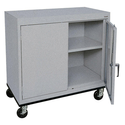 Transport Series Double Door Work Height Storage Cabinet, 36 x 18 x 30, Multi Granite