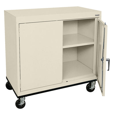 Transport Series Double Door Work Height Storage Cabinet, 36 x 18 x 30, Putty