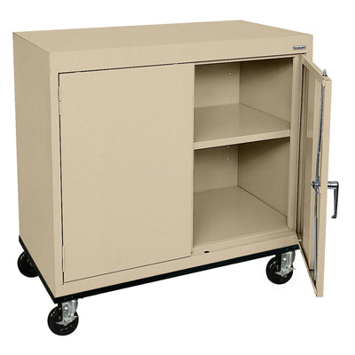 Transport Series Double Door Work Height Storage Cabinet, 36 x 18 x 30, Tropic Sand