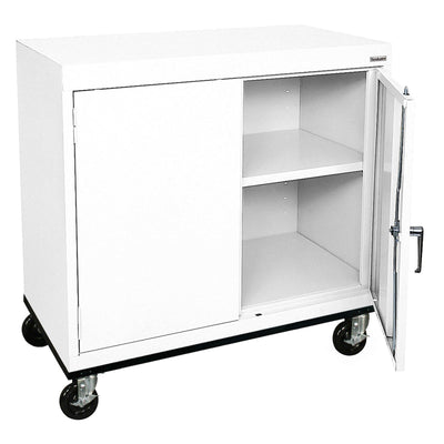 Transport Series Double Door Work Height Storage Cabinet, 36 x 18 x 30, White