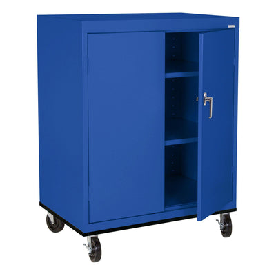 Transport Series Double Door Work Height Storage Cabinet, 36 x 24 x 42, Blue