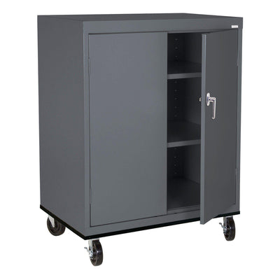 Transport Series Double Door Work Height Storage Cabinet, 36 x 24 x 42, Charcoal