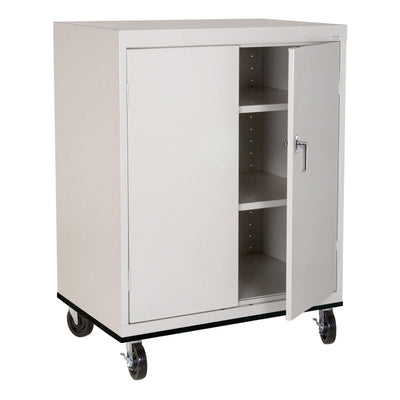Transport Series Double Door Work Height Storage Cabinet, 36 x 24 x 42, Dove Gray