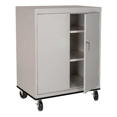 Transport Series Double Door Work Height Storage Cabinet, 36 x 24 x 42, Multi Granite