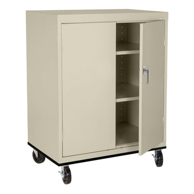 Transport Series Double Door Work Height Storage Cabinet, 36 x 24 x 42, Putty