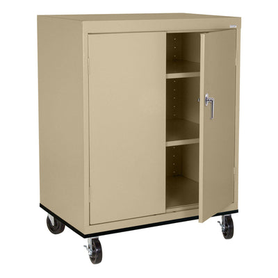 Transport Series Double Door Work Height Storage Cabinet, 36 x 24 x 42, Tropic Sand