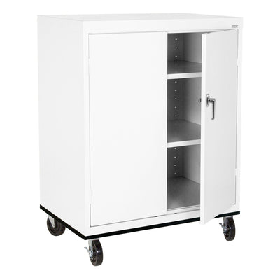 Transport Series Double Door Work Height Storage Cabinet, 36 x 24 x 42, White
