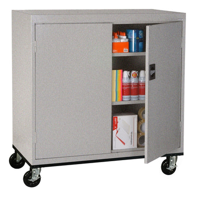 Transport Series Double Door Work Height Storage Cabinet, 46 x 24 x 42, Multi Granite