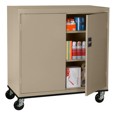 Transport Series Double Door Work Height Storage Cabinet, 46 x 24 x 42, Tropic Sand