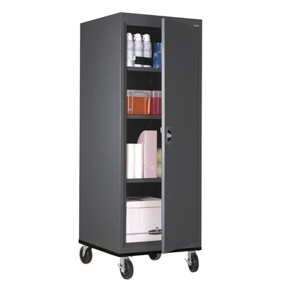 Transport Series Storage Cabinet, 24 x 24 x 60, Charcoal