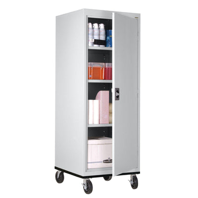 Transport Series Storage Cabinet, 24 x 24 x 60, Dove Gray