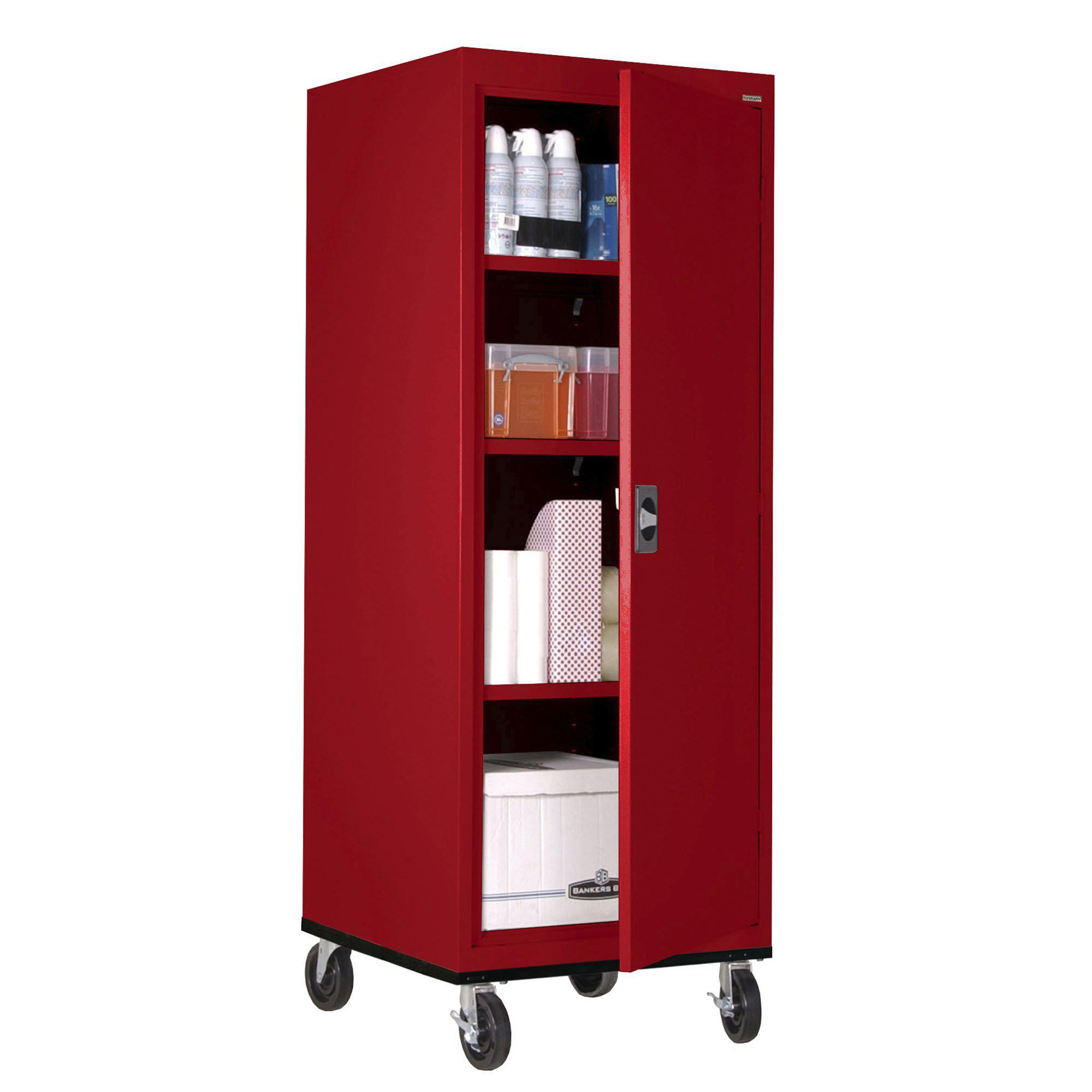 Transport Series Storage Cabinet, 24 x 24 x 60, Red