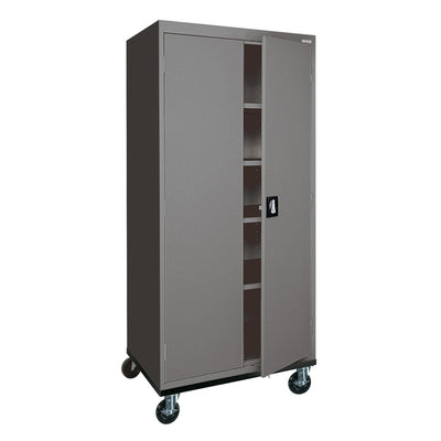 Transport Series Storage Cabinet, 30 x 24 x 66, Charcoal