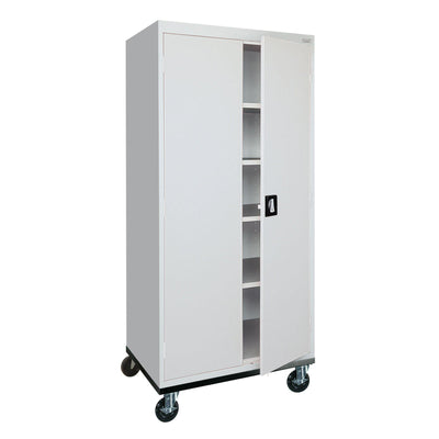Transport Series Storage Cabinet, 30 x 24 x 66, Dove Gray