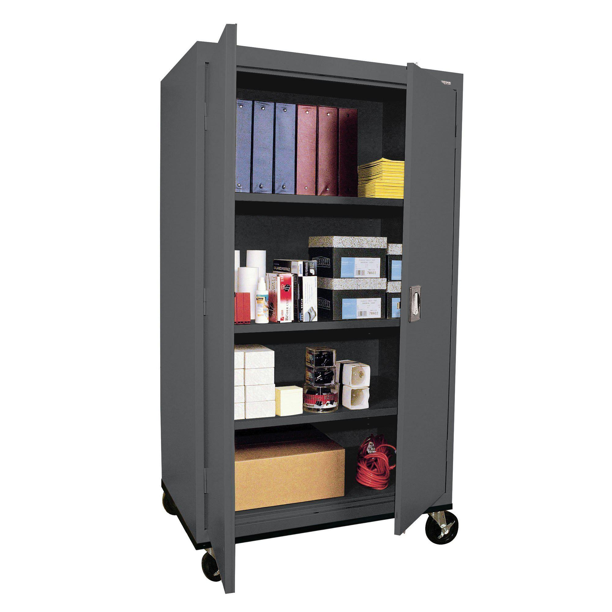 Transport Series Storage Cabinet, 36 x 24 x 60, Charcoal